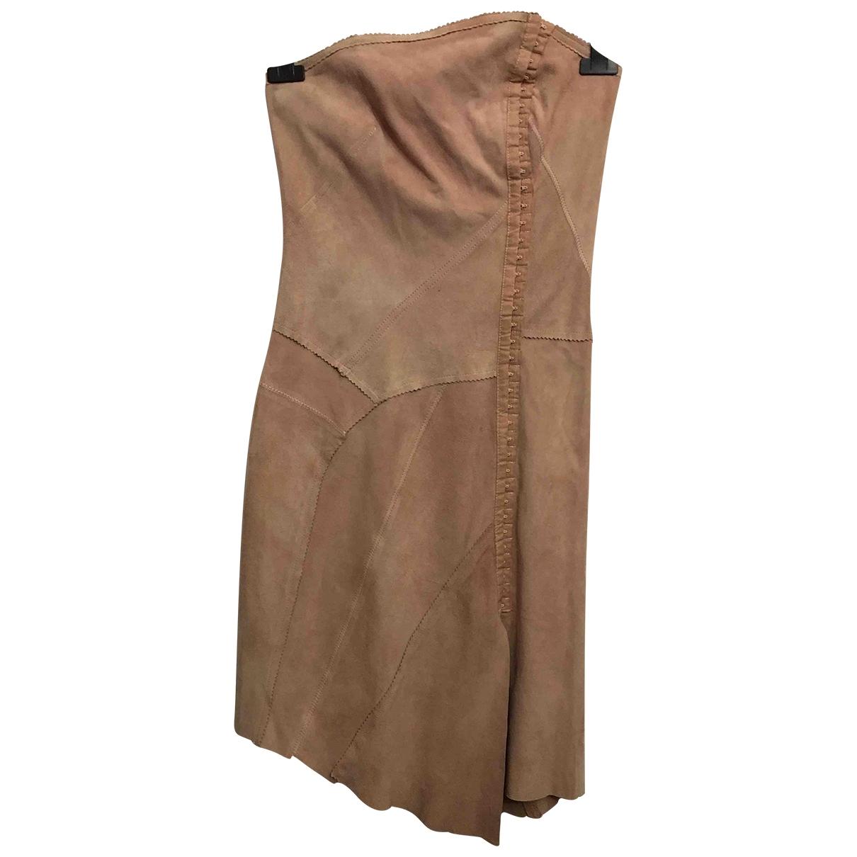 Plein Sud \N Kleid in  Rosa Veloursleder