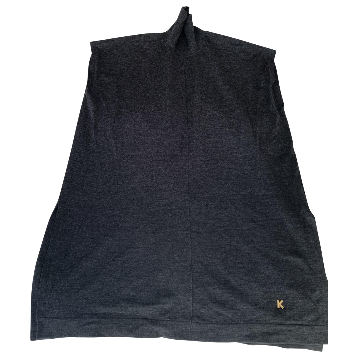 Kenzo - Pull   pour femme en laine - anthracite