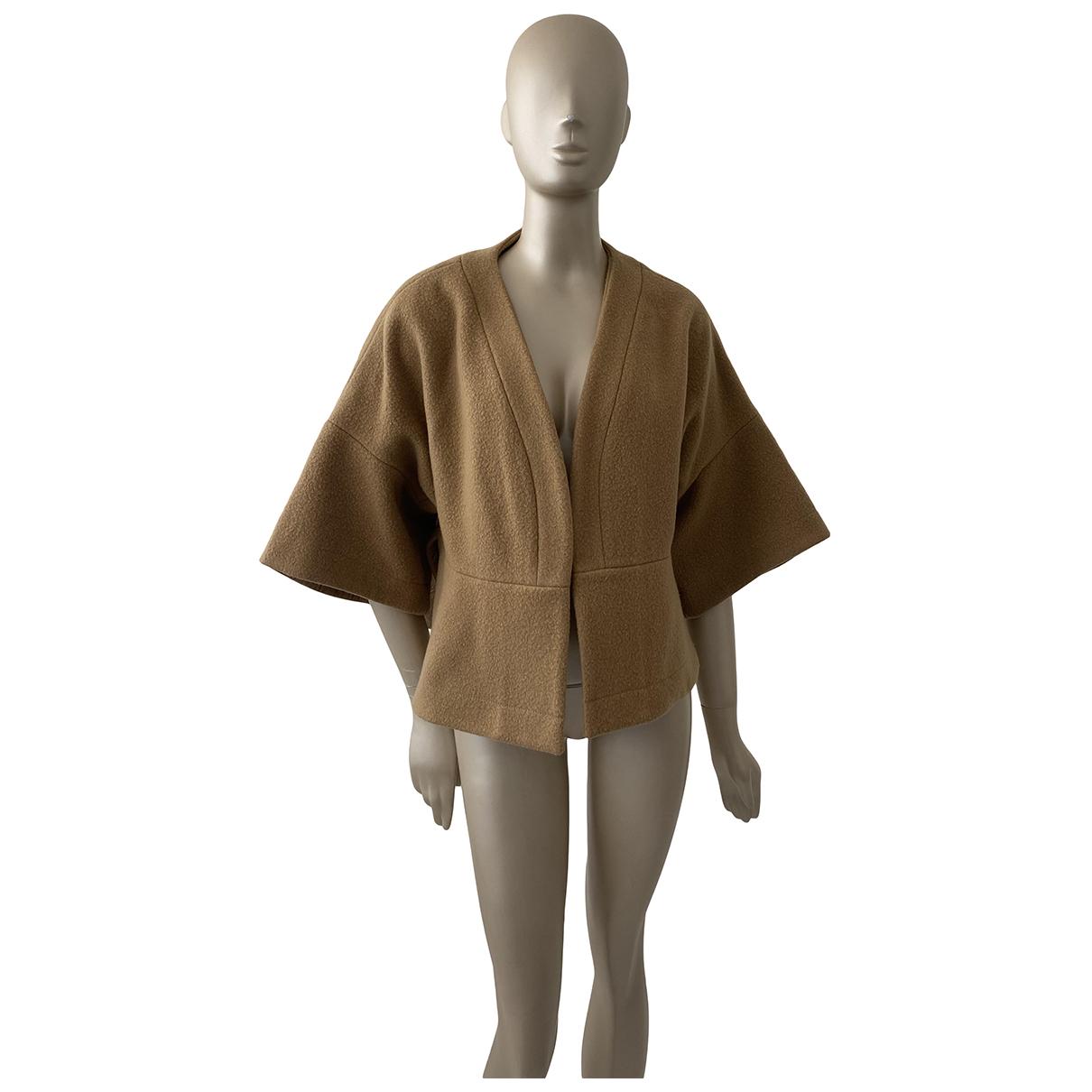 Chloe - Veste   pour femme en laine - camel
