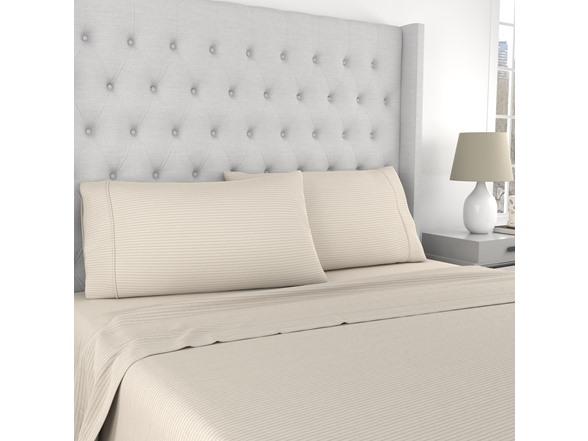 Kathy Ireland Linen Cotton 4pc Sheet Set