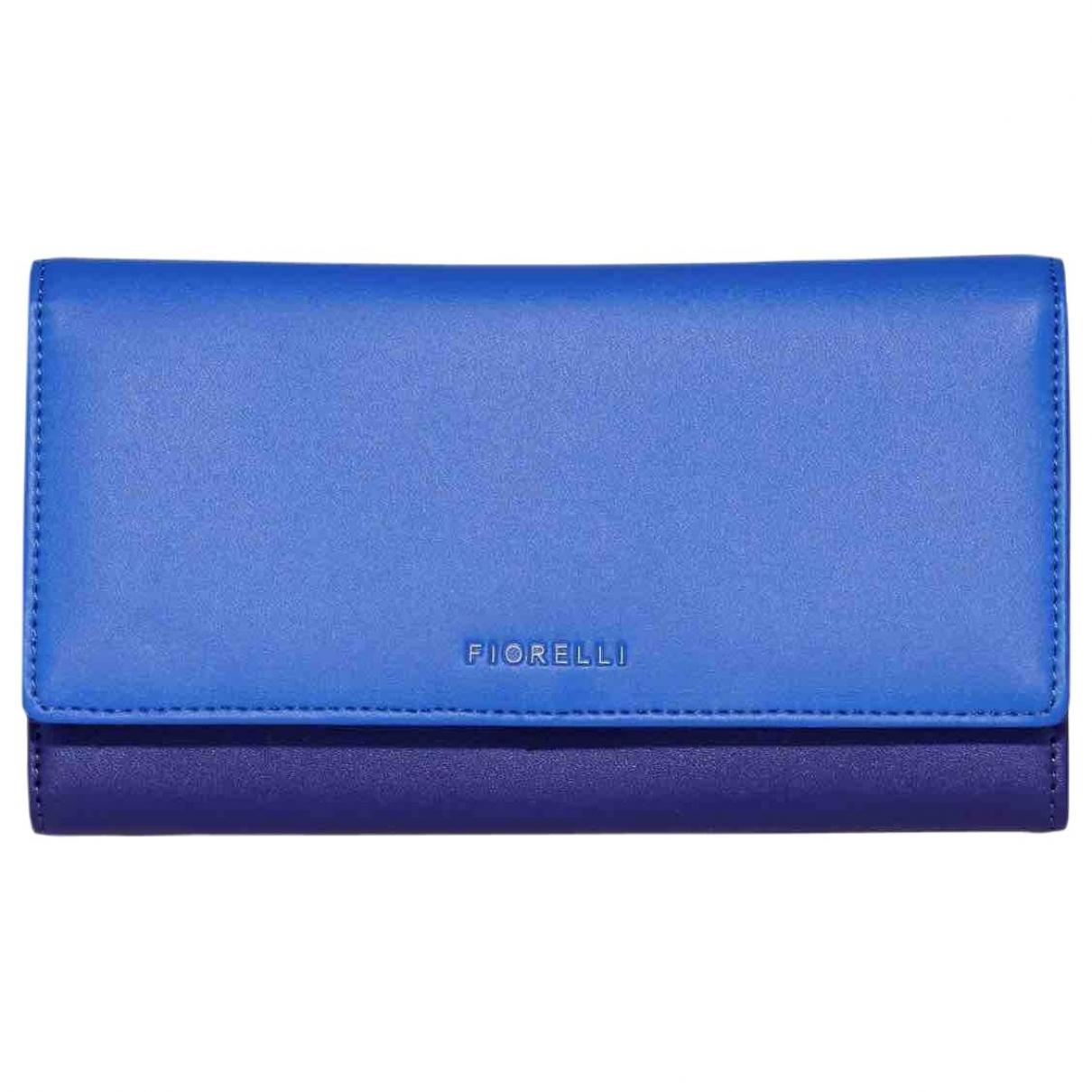 Fiorucci \N Portemonnaie in  Blau Leder