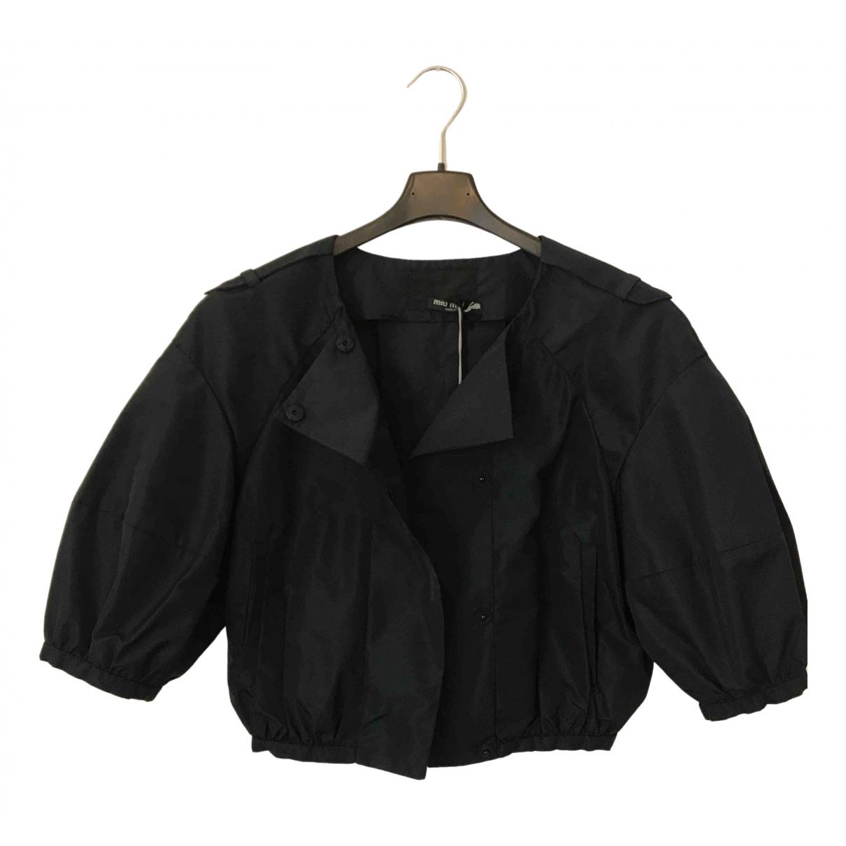 Miu Miu N Blue jacket for Women 42 IT
