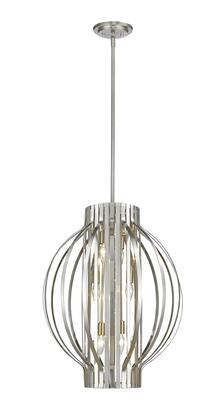 Moundou 436-20BN 20 6 Light Pendant Contemporary  Metropolitanhave Steel Frame with Brushed Nickel