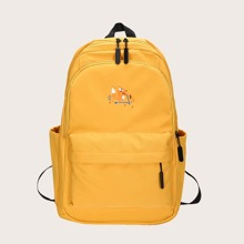 Cartoon Embroidery Large Capacity Backpack