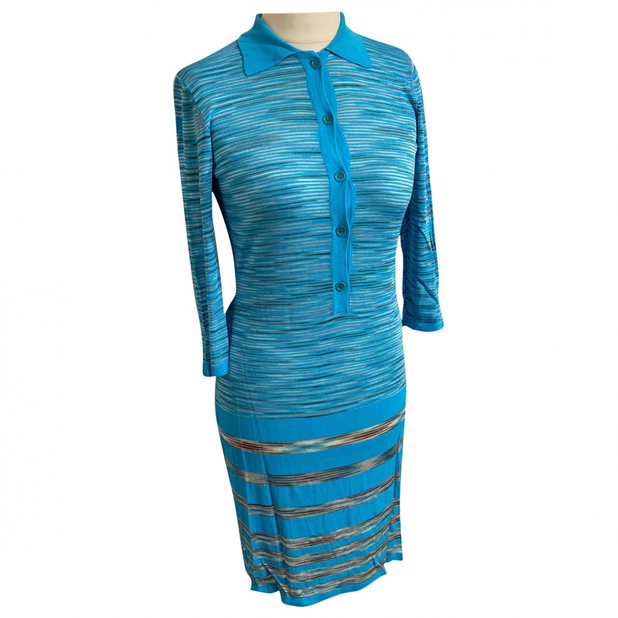 Missoni - Robe   pour femme en coton - turquoise