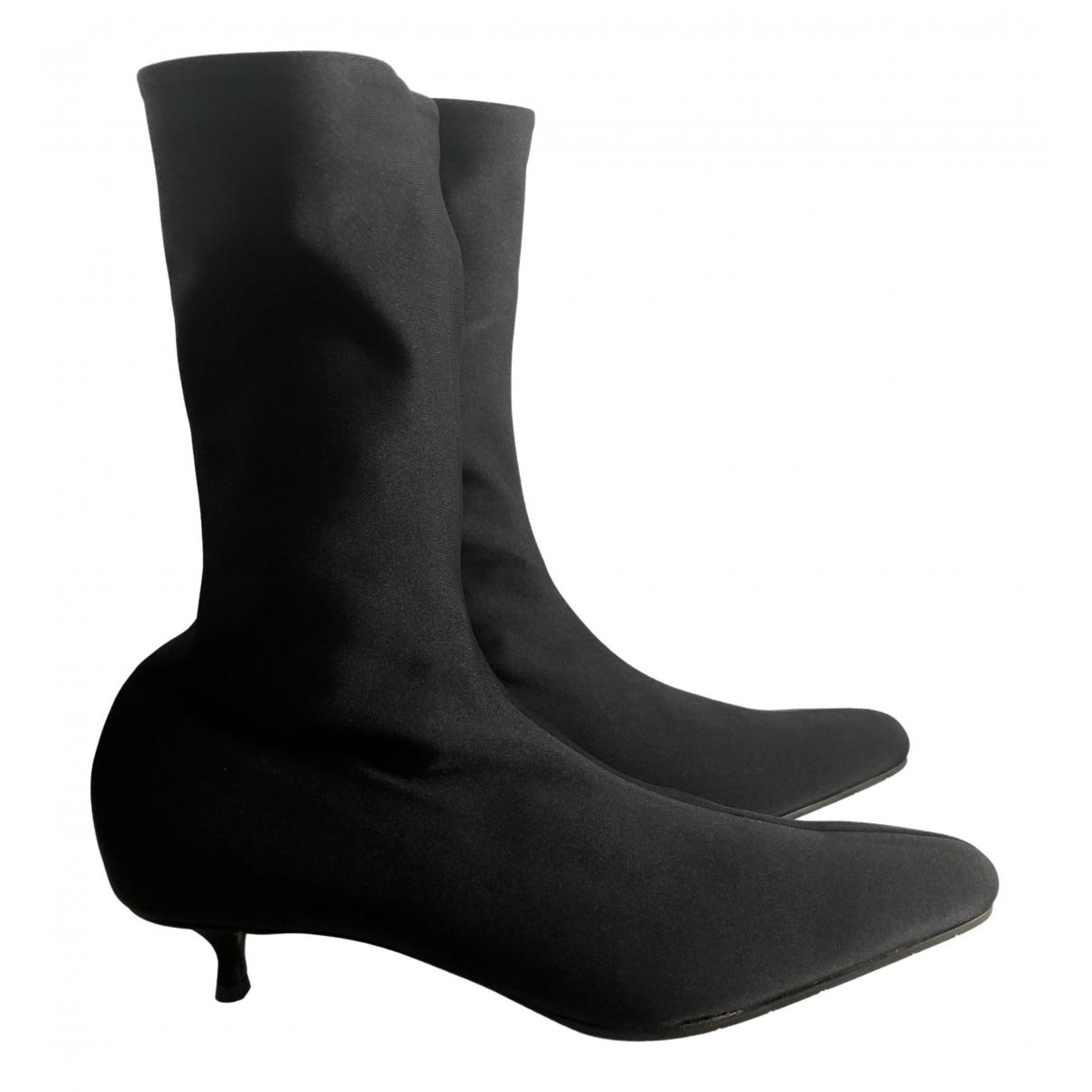 Balenciaga - Bottes   pour femme en toile - noir
