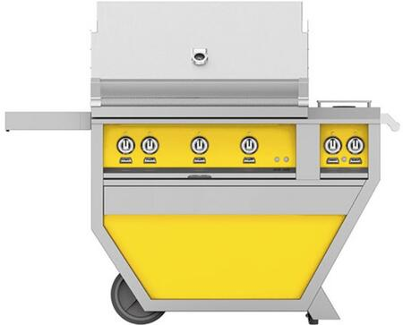 GMBR36CX2-LP-YW 36 Deluxe Freestanding Liquid Propane Grill with up to 119 000 BTUs  647 sq. inches Grilling Surface Size  Double Side Burner
