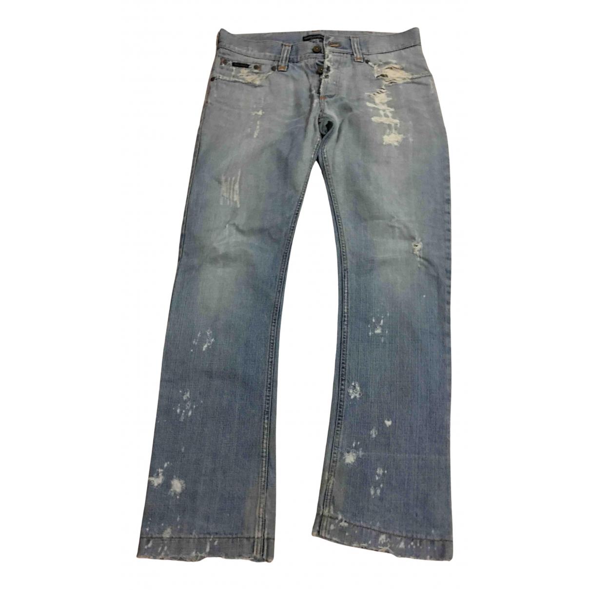 Dolce & Gabbana N Blue Cotton Jeans for Men 34 US