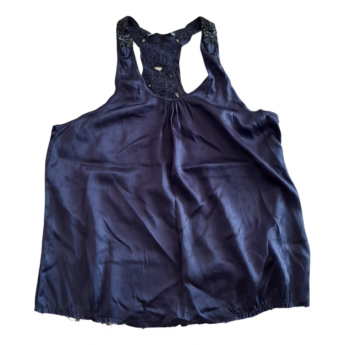Non Signé / Unsigned \N Blue Glitter  top for Women L International