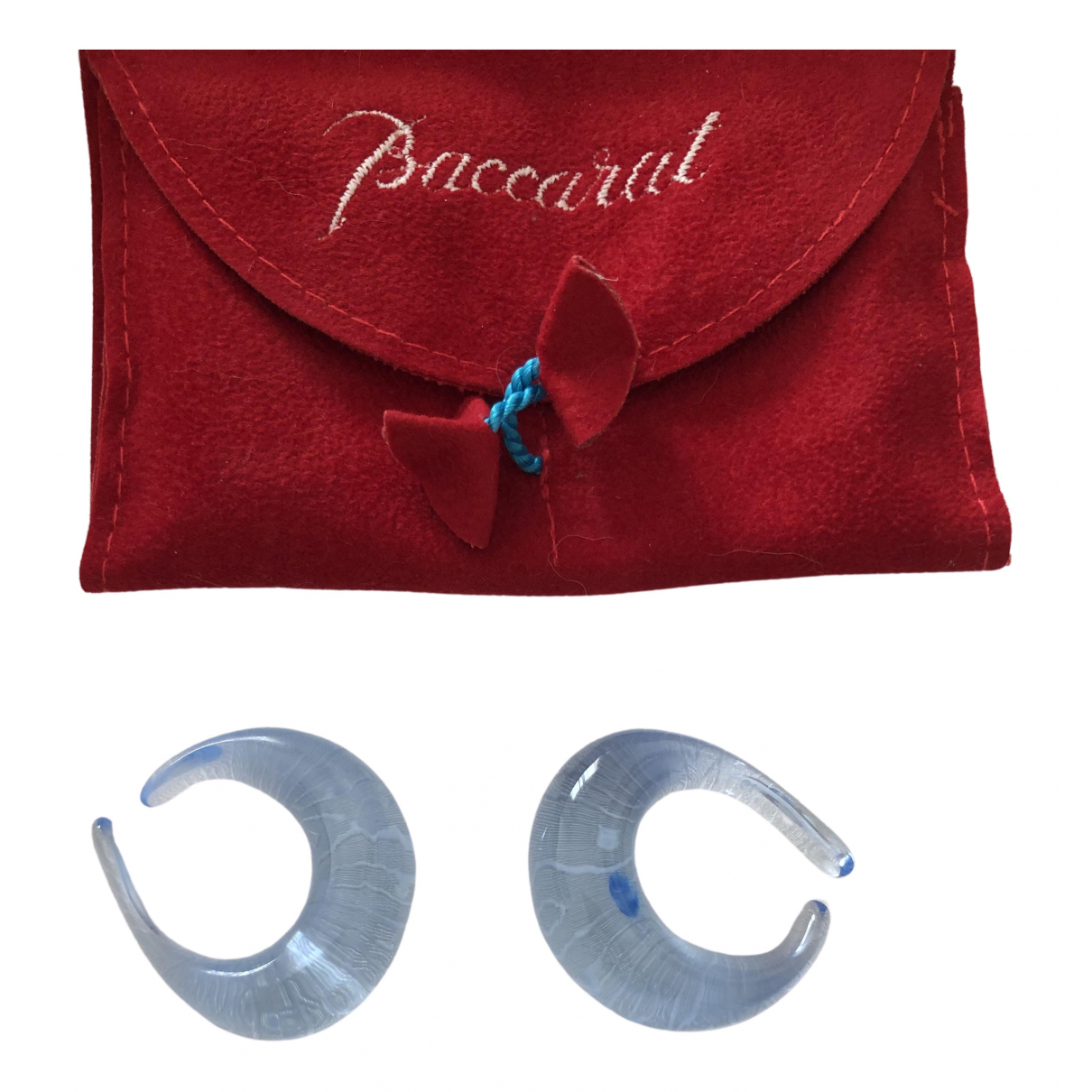 Baccarat \N OhrRing in  Blau Kristall
