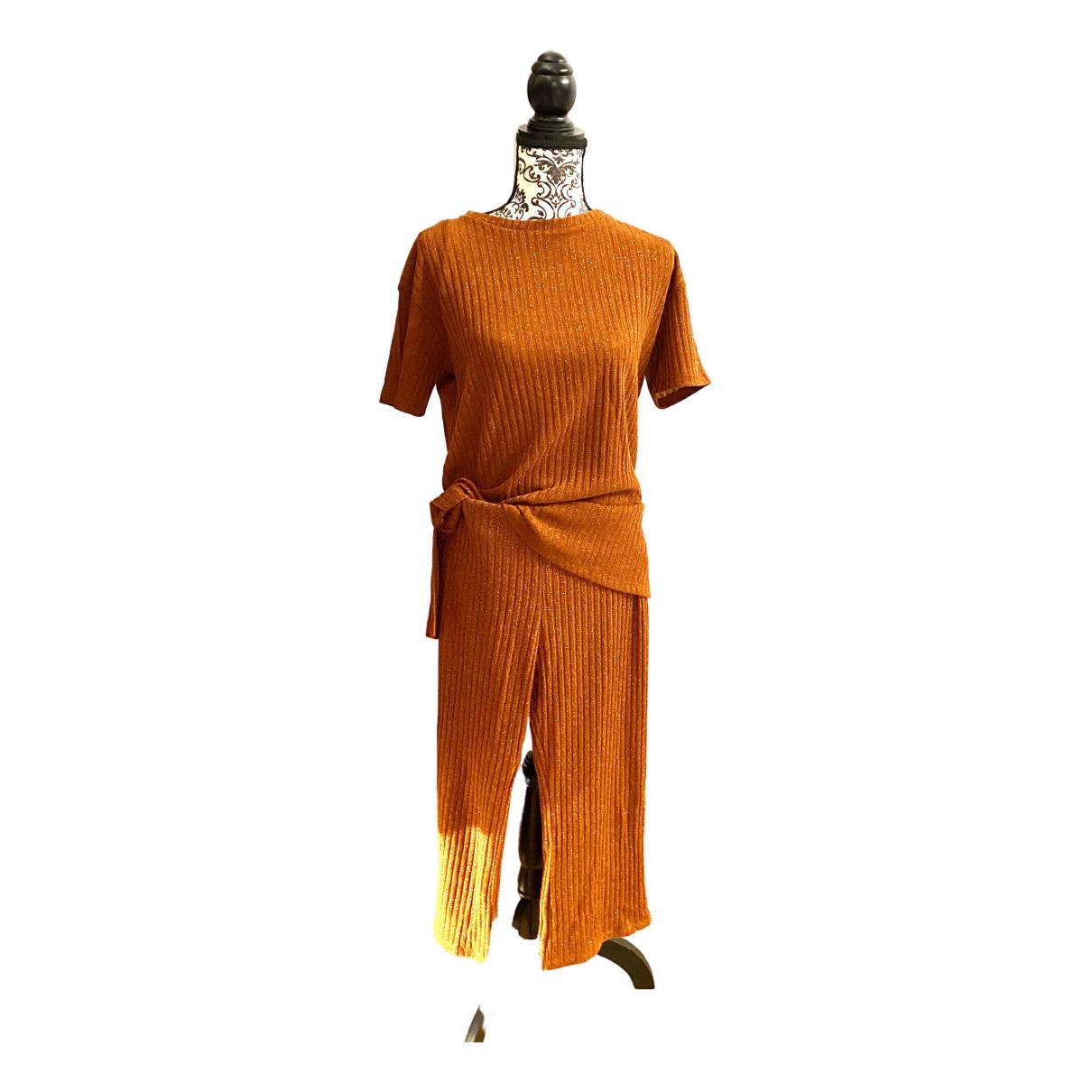 Zara \N Kleid in  Orange Baumwolle - Elasthan
