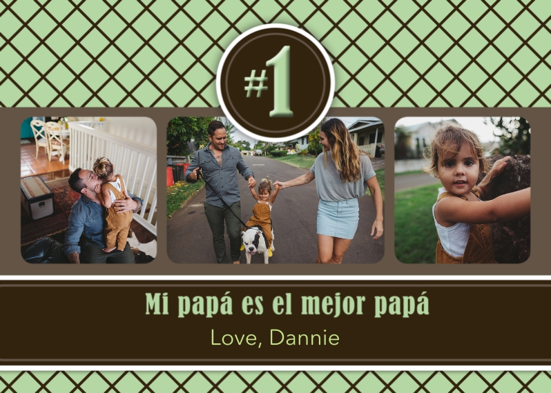 Father's Day Mail-for-Me Premium 5x7 Folded Card , Card & Stationery -Spanish Father's Day Diamonds