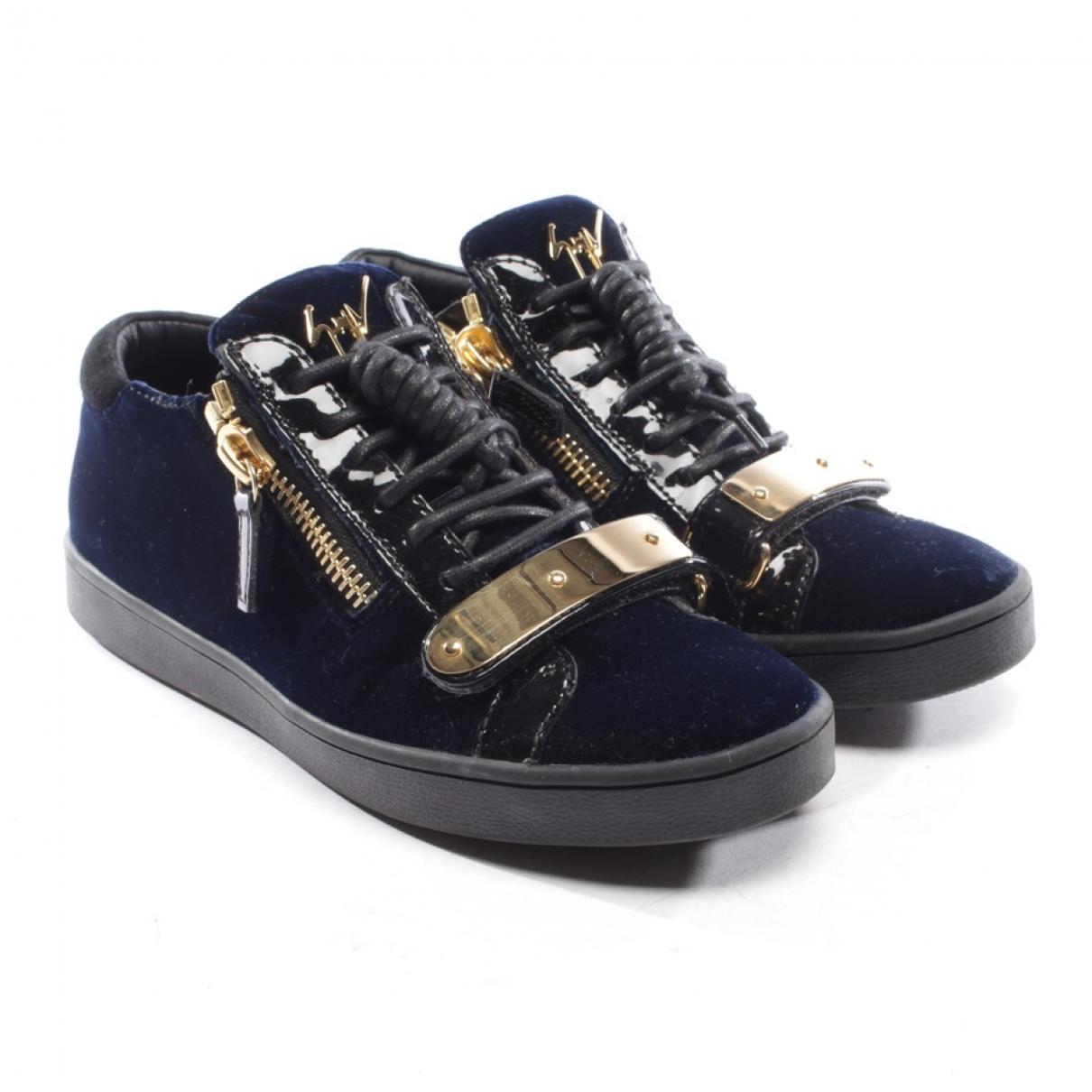 Giuseppe Zanotti \N Sneakers in  Blau Samt