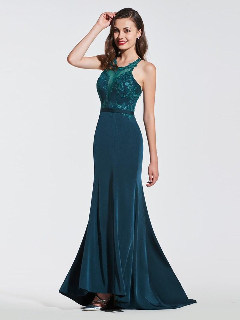 Ericdress Mermaid Backless Prom Dress