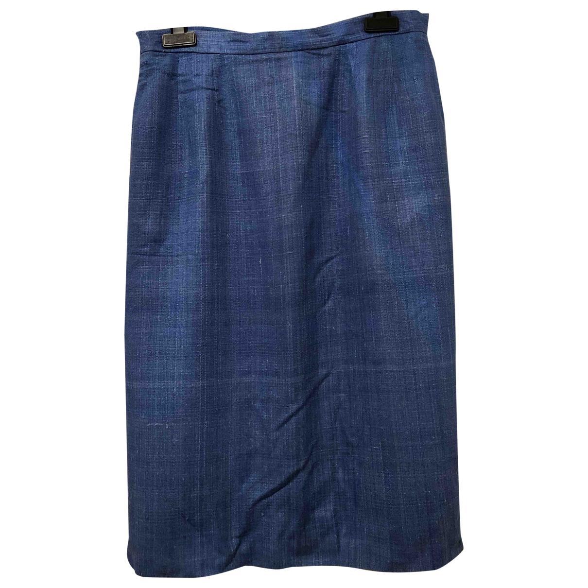 Dior \N Rocke in  Blau Leinen