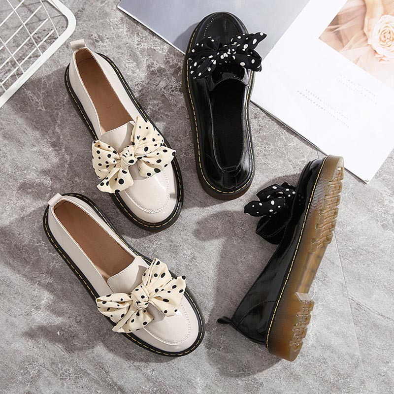 Ericdress Round Toe Slip-On Thread Low Heel Flats