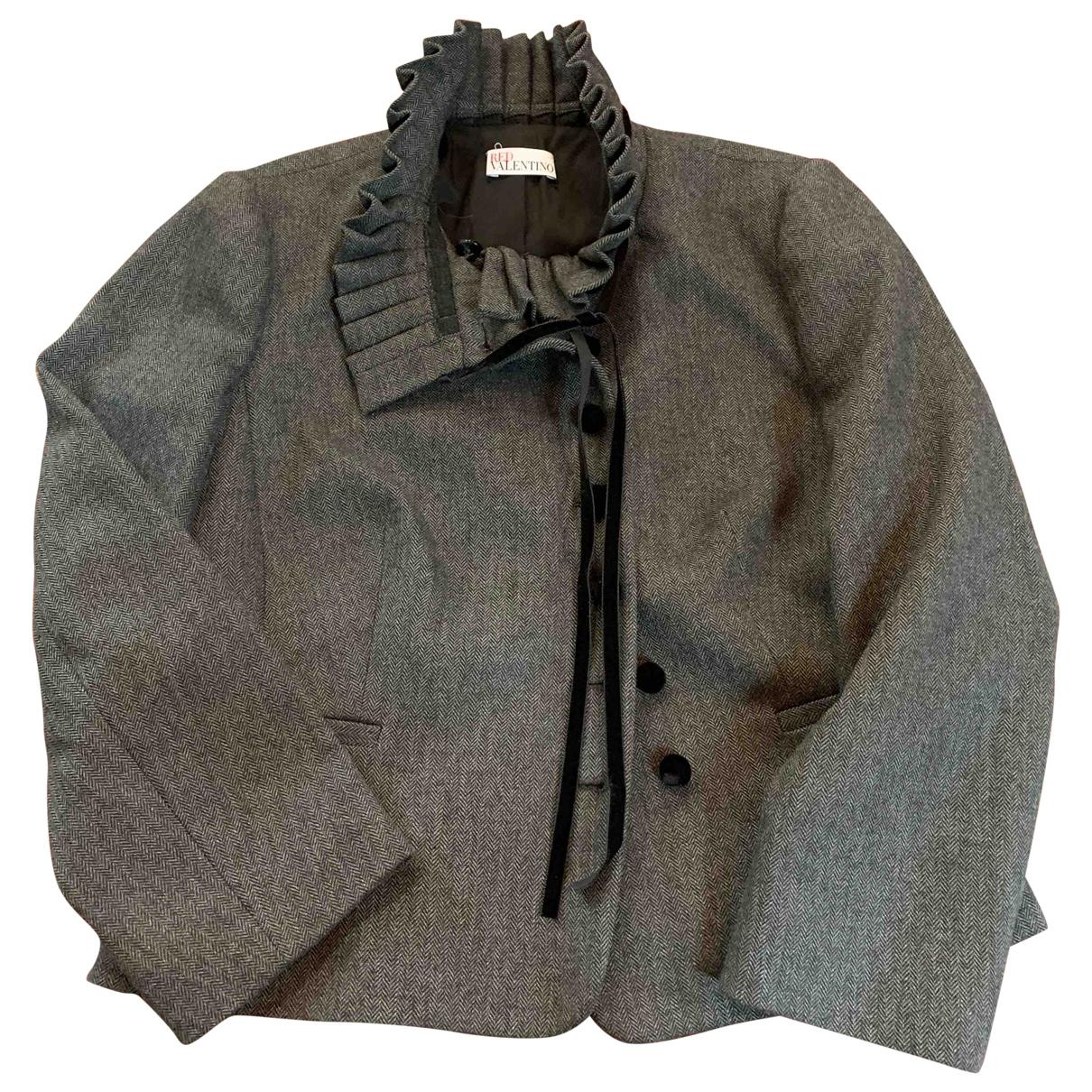 Red Valentino Garavani - Veste   pour femme en laine - anthracite