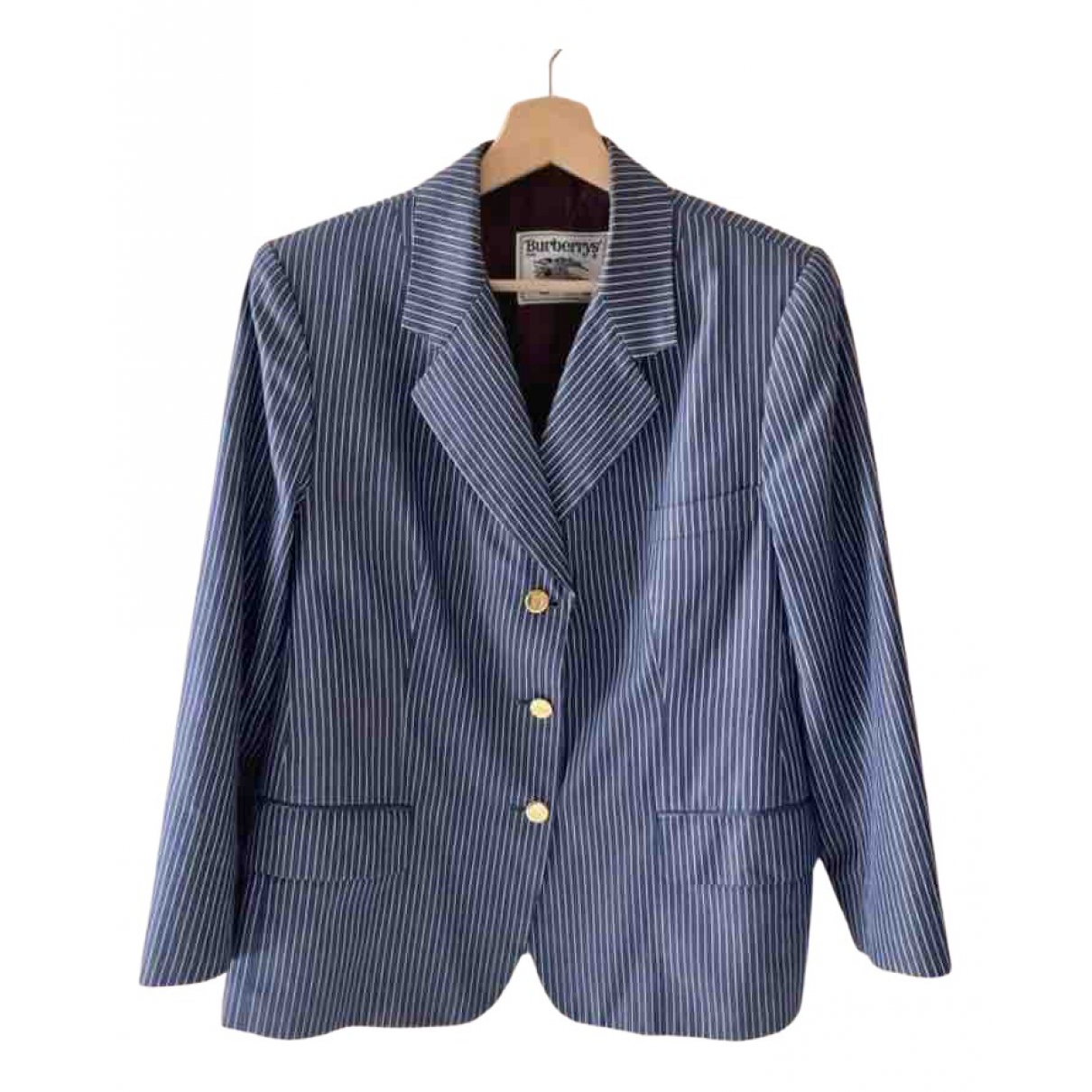 Burberry \N Blue Cotton jacket for Women 40 FR