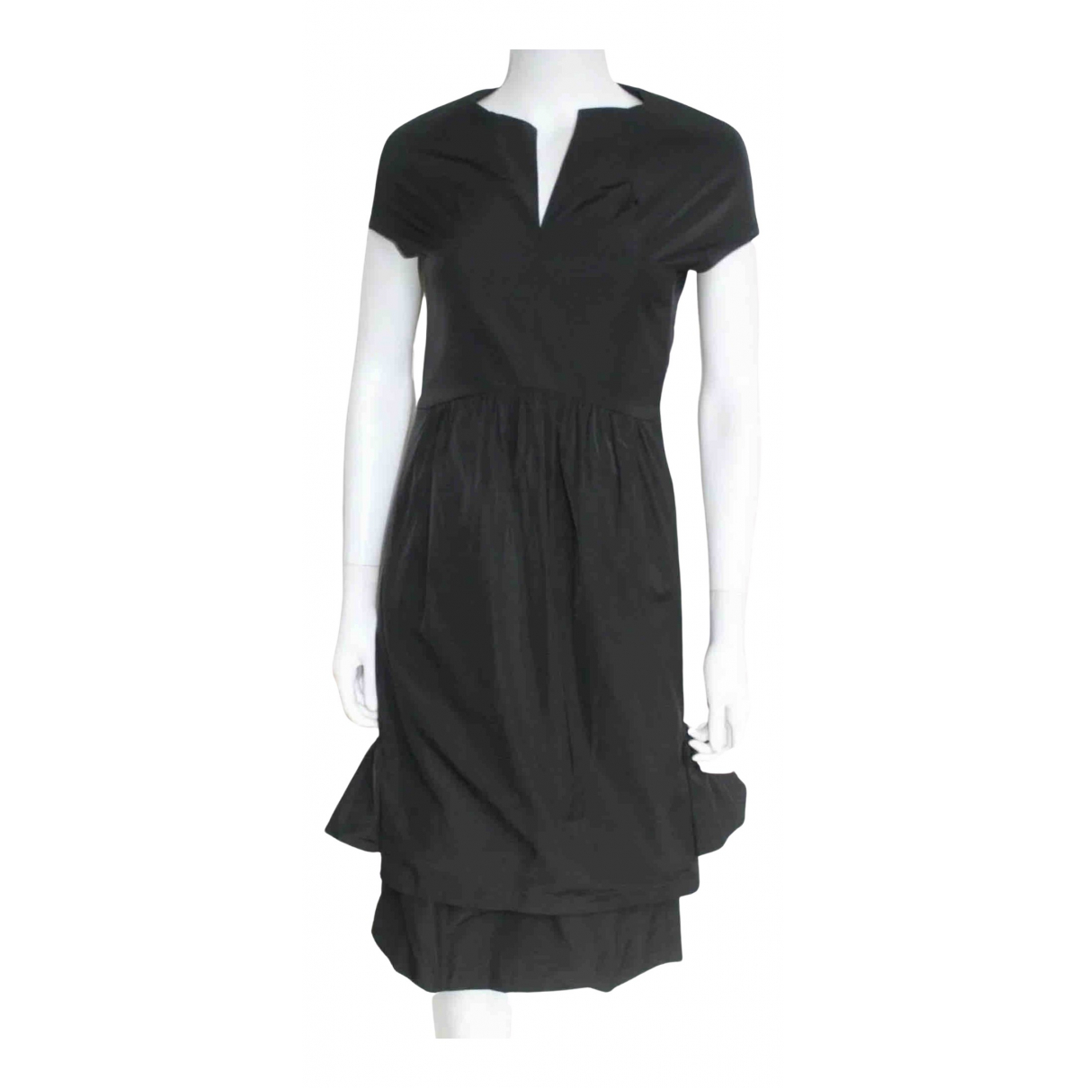 Dries Van Noten \N Kleid in  Schwarz Polyester