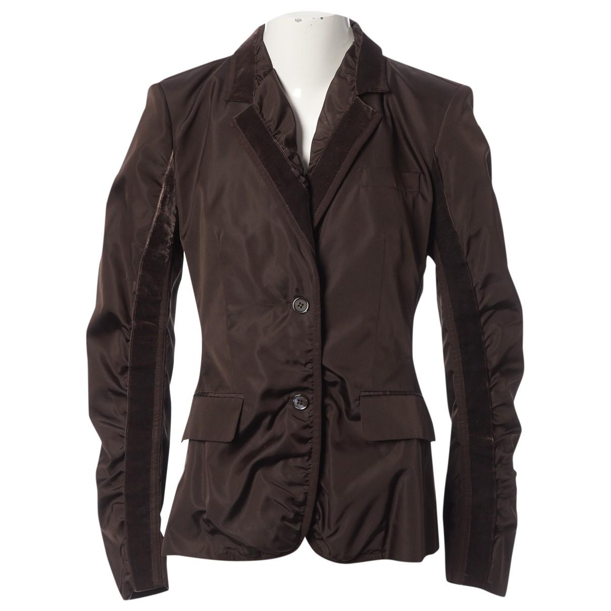 Yves Saint Laurent \N Brown Silk jacket for Women 40 FR