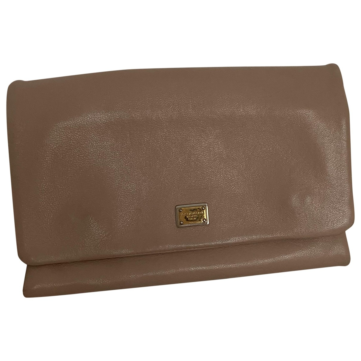 Dolce & Gabbana \N Beige Leather Clutch bag for Women \N