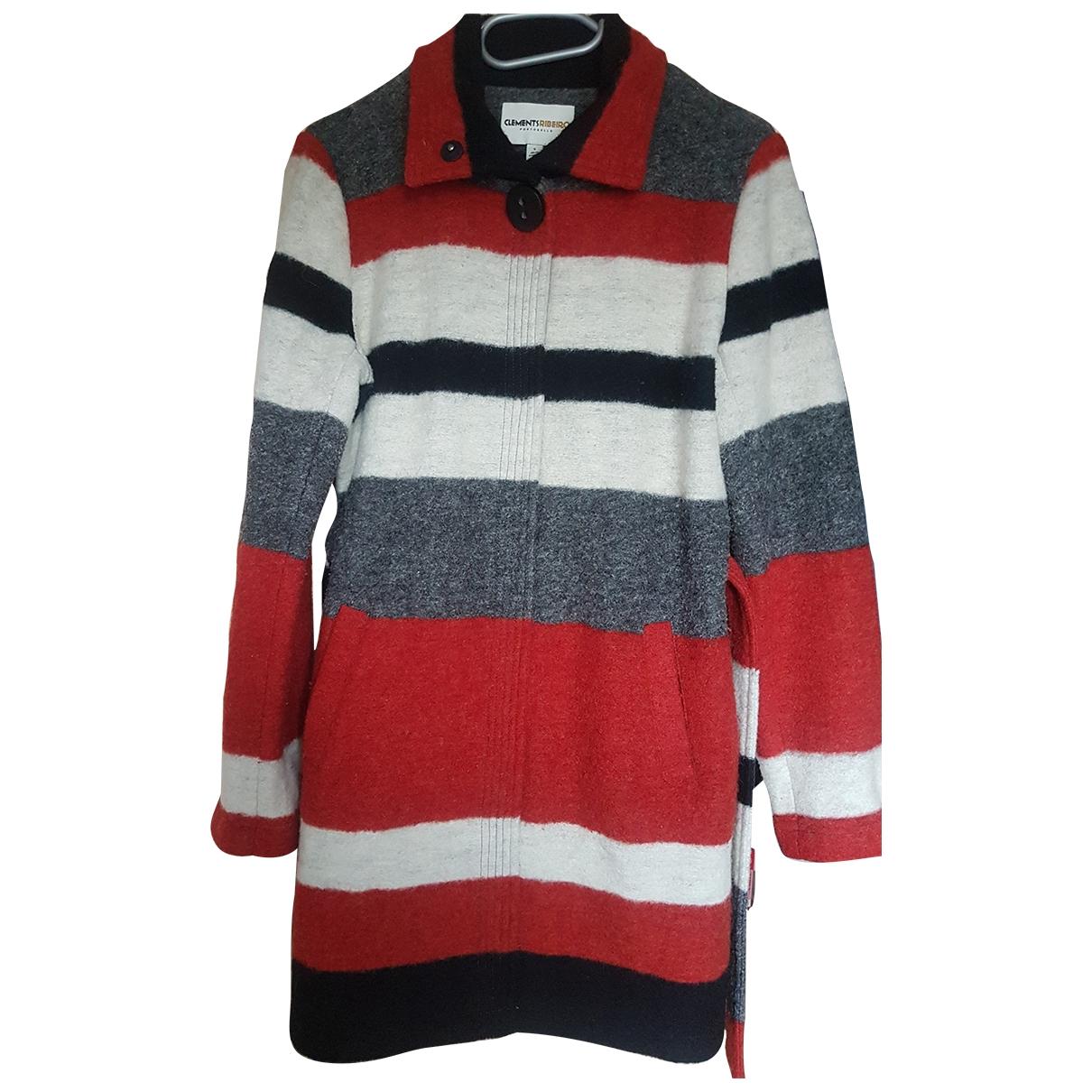 Clements Ribeiro - Manteau   pour femme en laine - multicolore