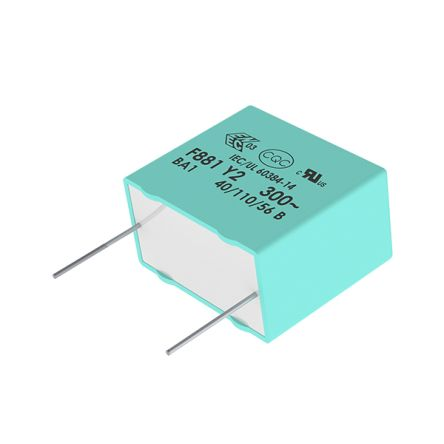 KEMET 1μF Polypropylene Capacitor PP 275 V ac, 560 V dc ±20% Tolerance Through Hole R46 Series (5)