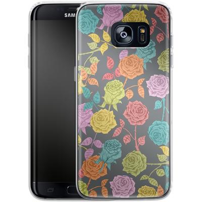 Samsung Galaxy S7 Edge Silikon Handyhuelle - Roses von Bianca Green