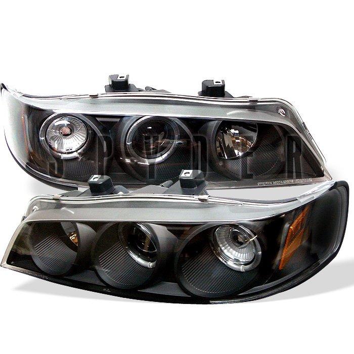 Spyder 1Pc Halo Black Projector HeadLights Honda Accord 94-97