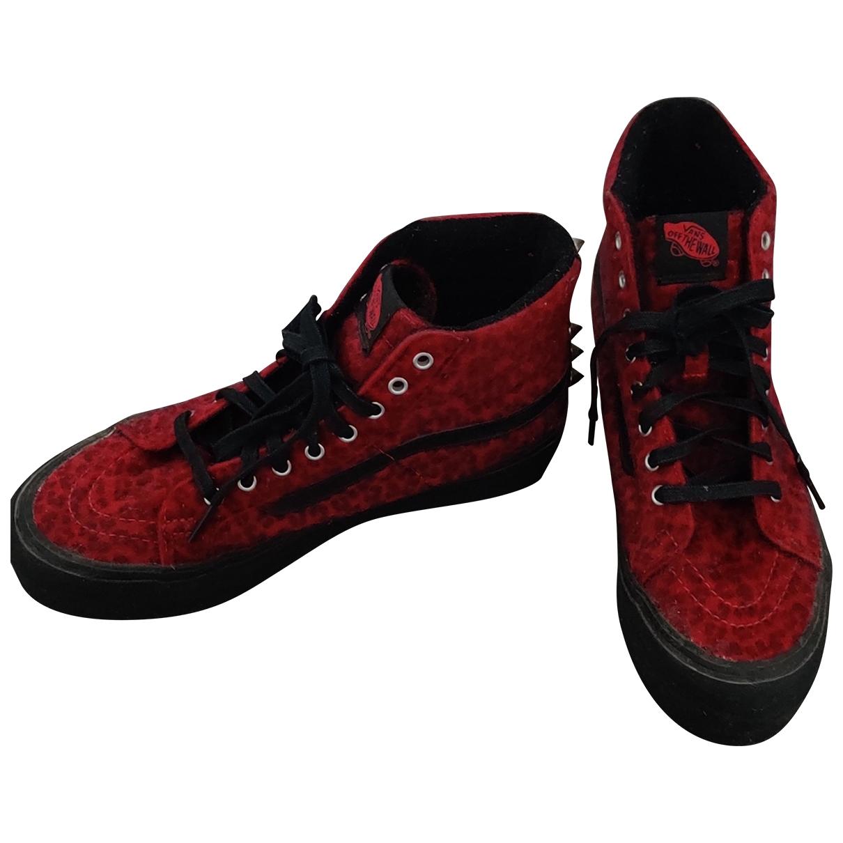 Vans - Baskets   pour femme en suede - rouge