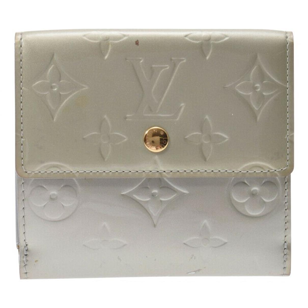 Louis Vuitton - Portefeuille   pour femme en cuir verni - dore