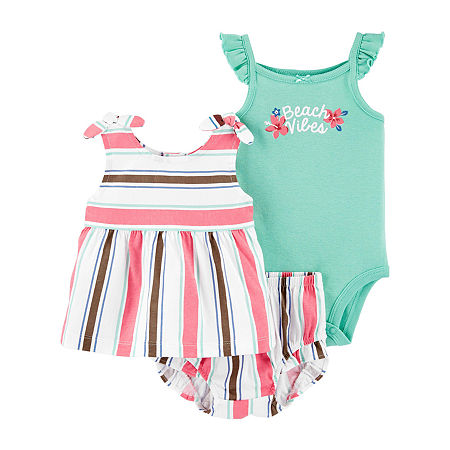 Carter's Baby Girls 3-pc. Short Set, 9 Months , Pink