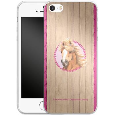 Apple iPhone SE Silikon Handyhuelle - Pferdefreunde Herzen von Pferdefreunde
