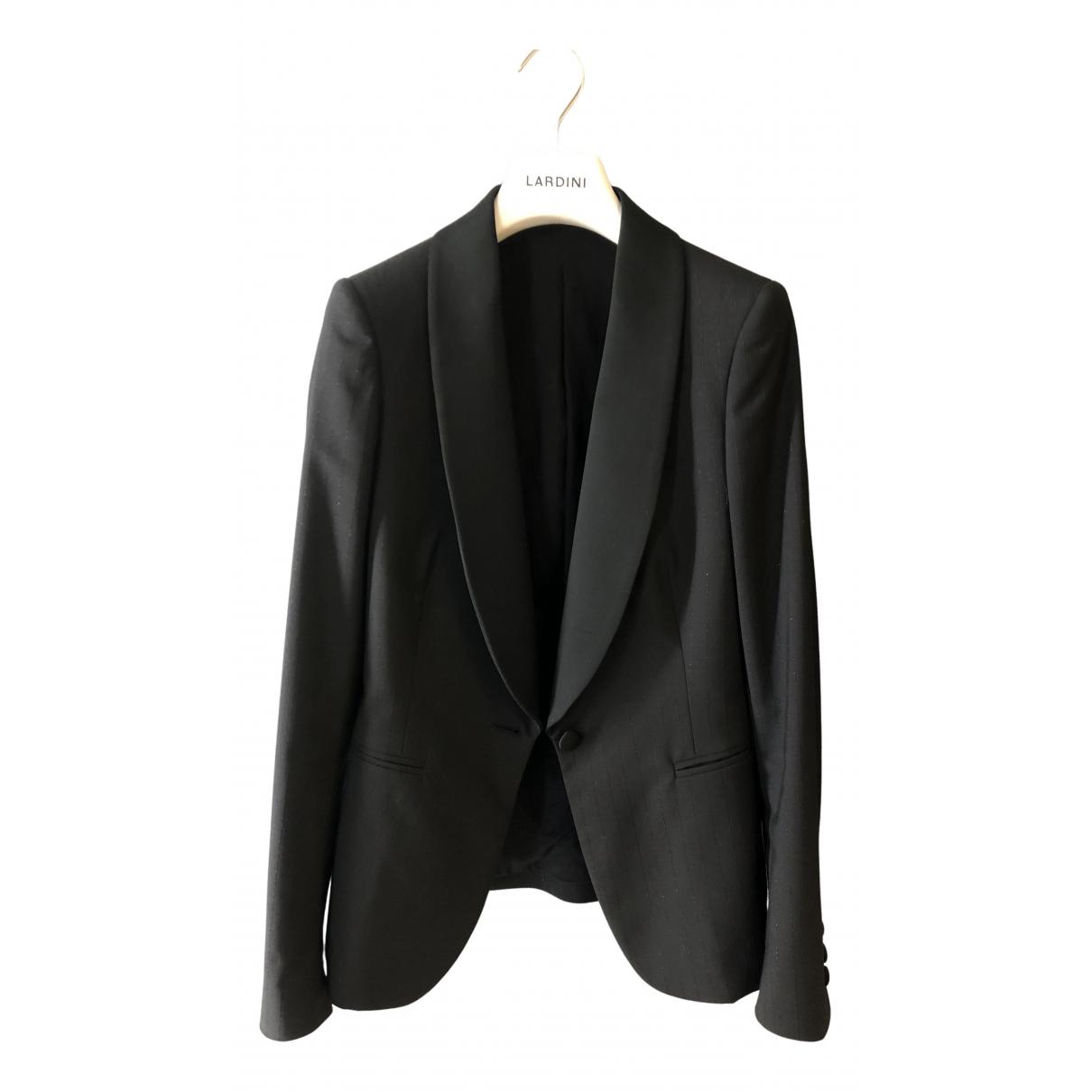 Lardini N Black Silk jacket for Women 36 IT