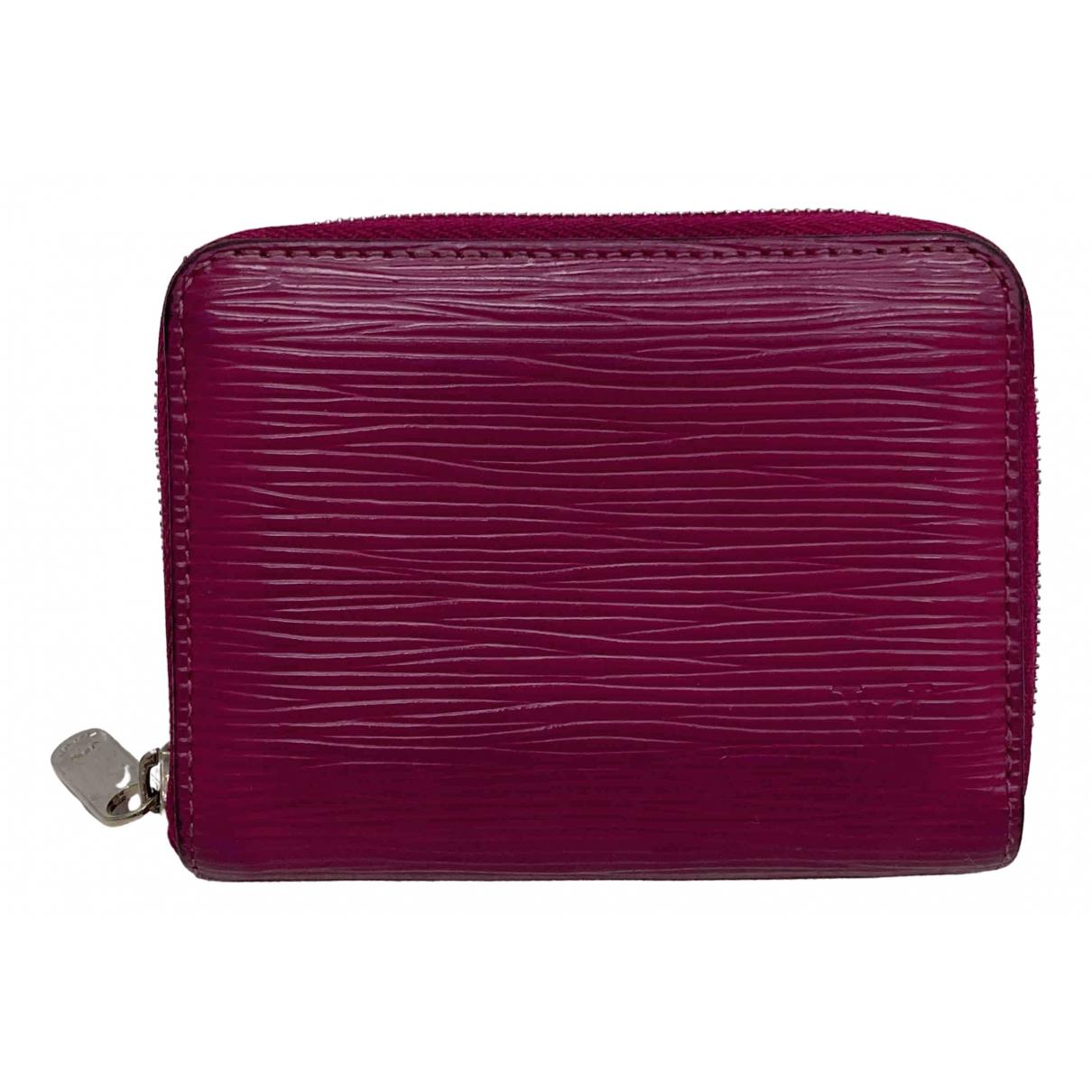 Louis Vuitton N Purple Leather Purses, wallet & cases for Women N