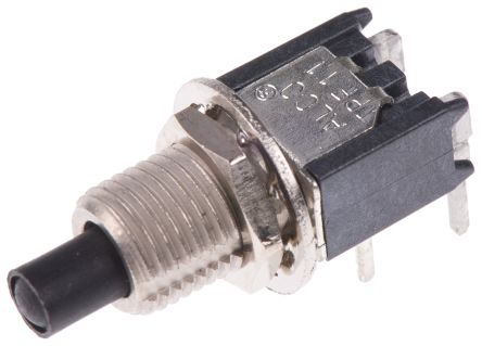 TE Connectivity Single Pole Single Throw (SPST) Momentary Miniature Push Button Switch, PCB