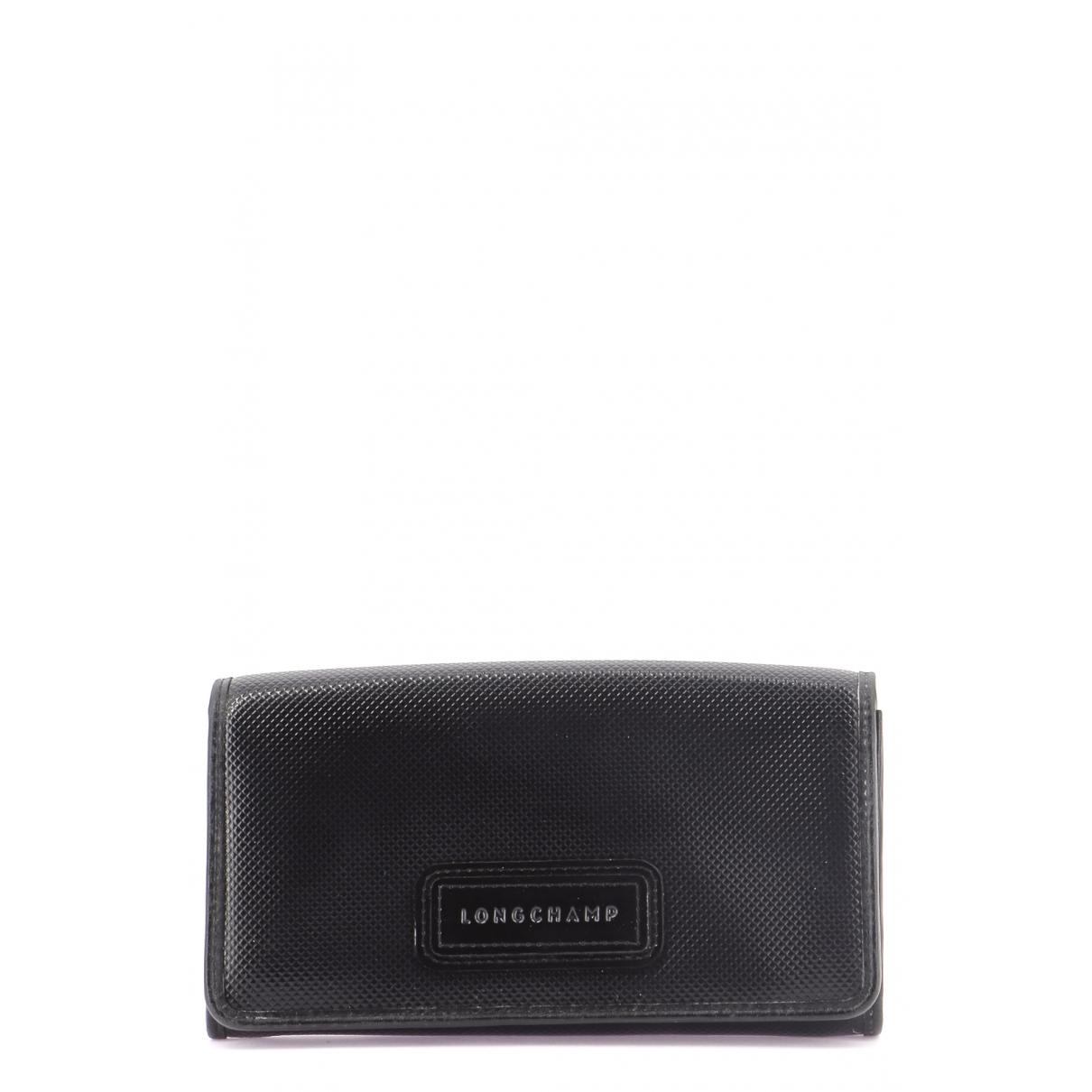 Longchamp \N Portemonnaie in  Schwarz Leder