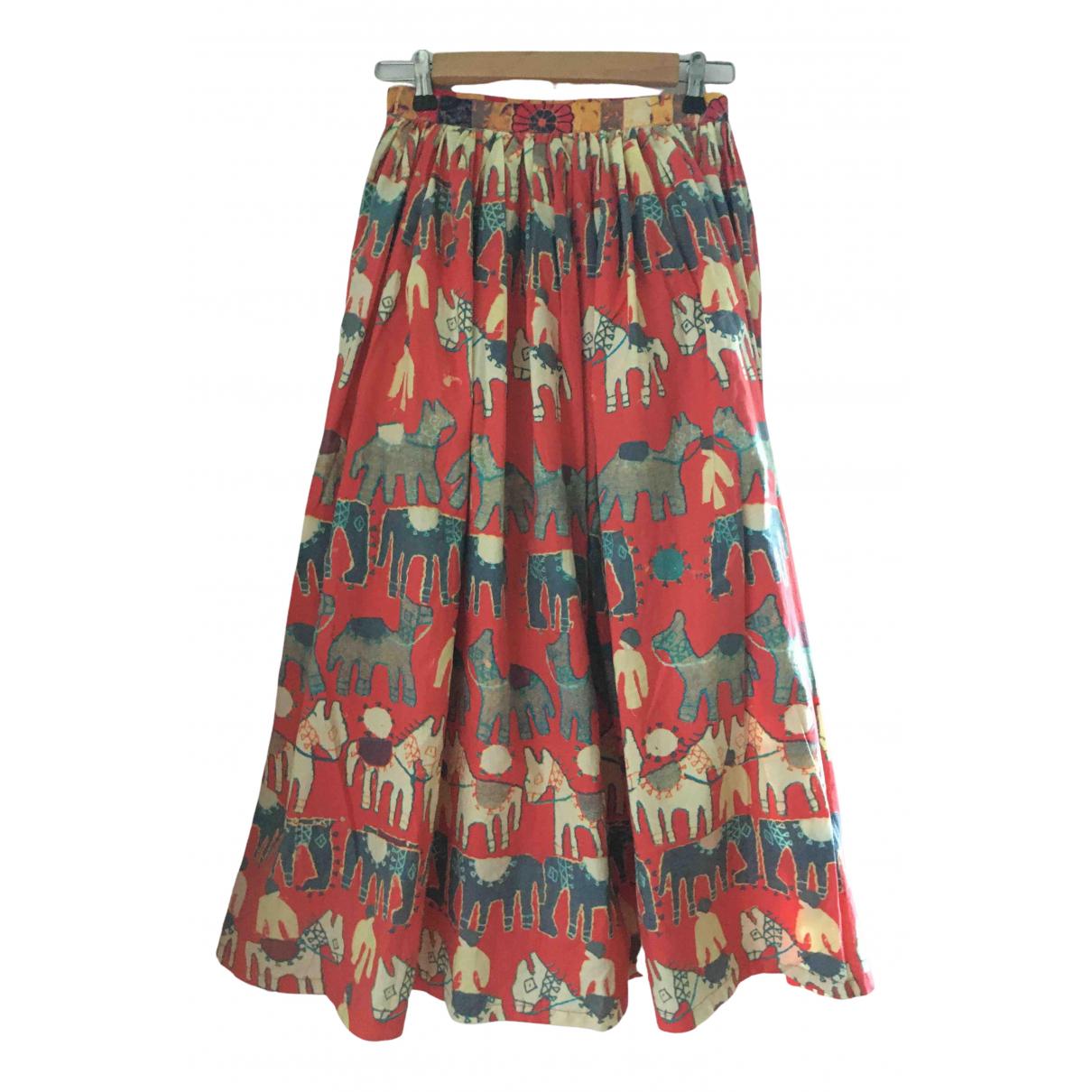 Replay \N Orange Cotton skirt for Women 36 FR