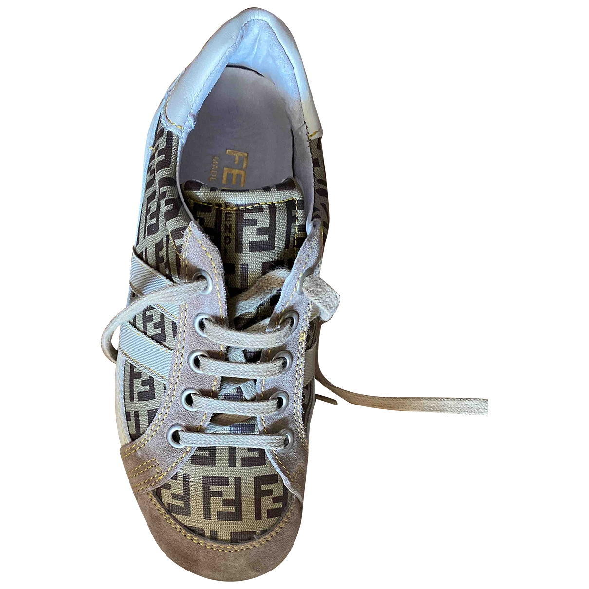 Fendi \N Sneakers in  Braun Leder