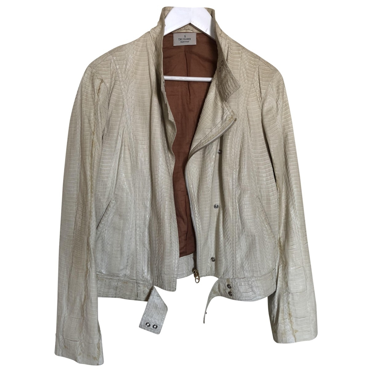 Trussardi \N Beige Python jacket for Women 42 IT