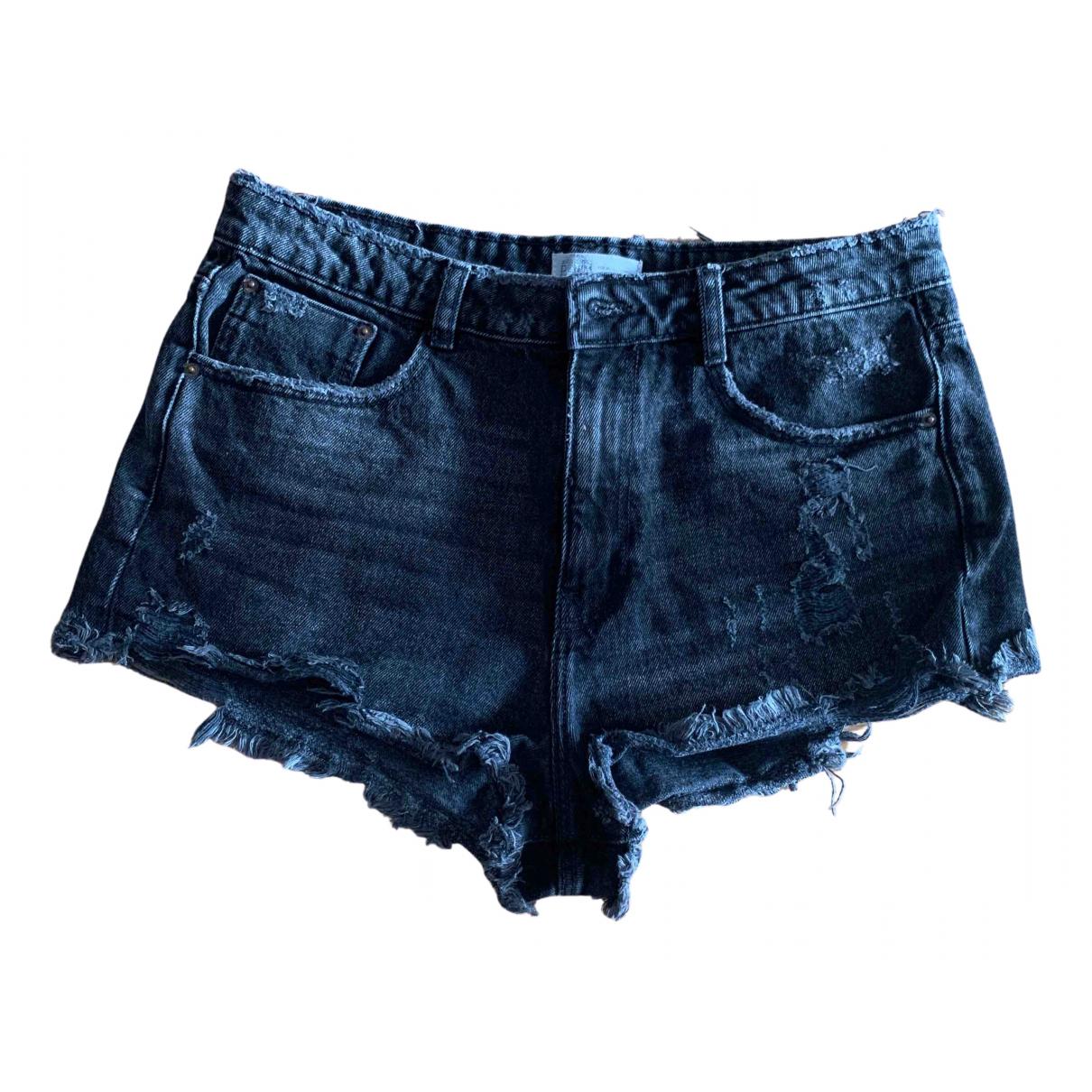 Zara \N Shorts in  Anthrazit Baumwolle