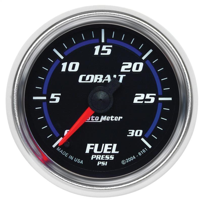 AutoMeter GAUGE; FUEL PRESSURE; 2 1/16in.; 30PSI; DIGITAL STEPPER MOTOR; COBALT