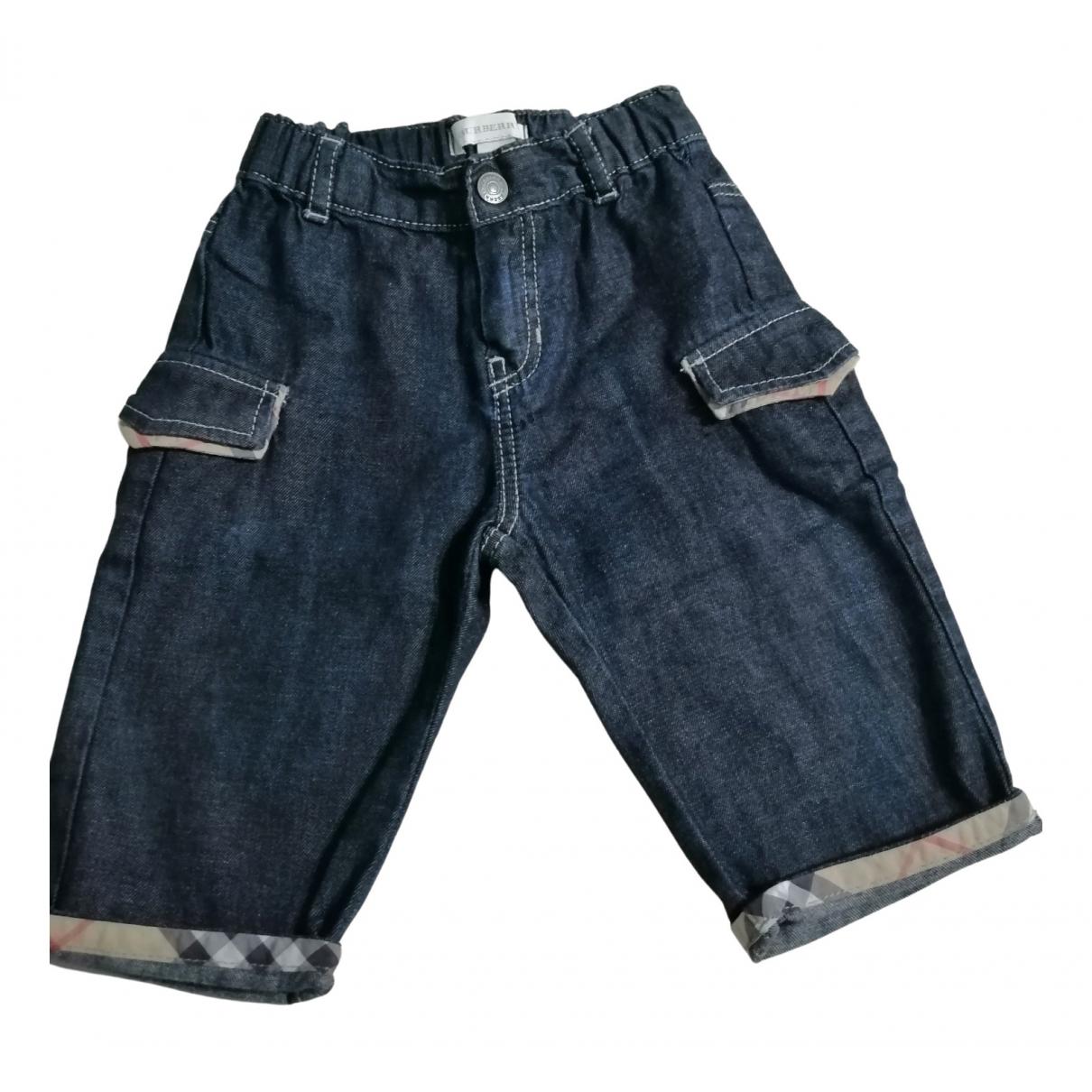Burberry - Pantalon   pour enfant en denim - bleu