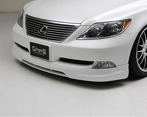 INGS LX Sport Front Half Spoiler FRP Lexus LS460 / LS600 06-12