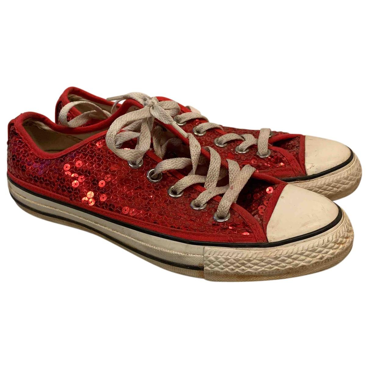 Converse \N Sneakers in  Rot Leinen