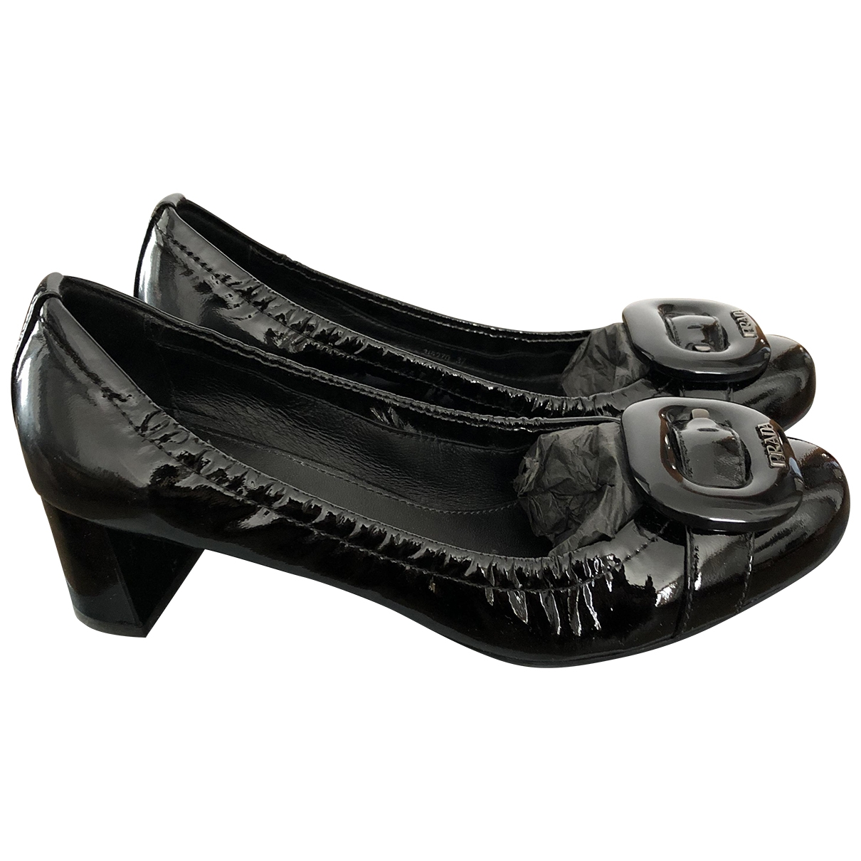 Prada \N Ballerinas in  Schwarz Lackleder