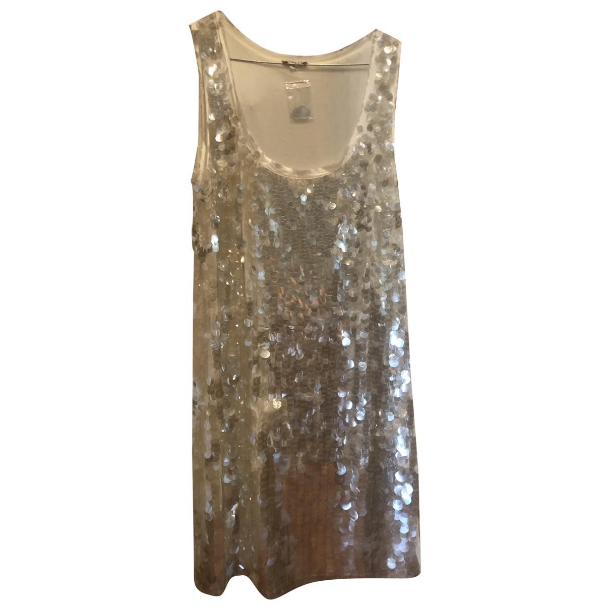 Parosh N White Glitter dress for Women M International