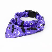 1pc Dog Halloween Pattern Triangle Bib Design Collar