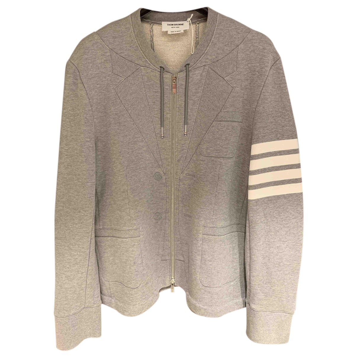 Thom Browne N Grey Cotton Knitwear & Sweatshirts for Men M International