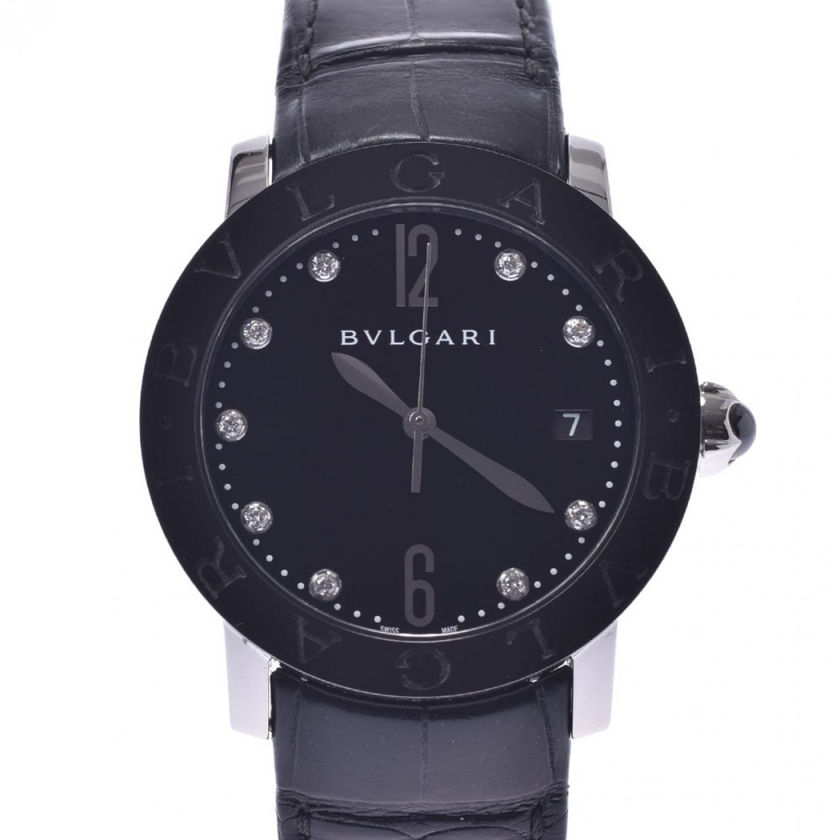 Bvlgari - Montre Bulgari Bulgari pour homme en acier - noir